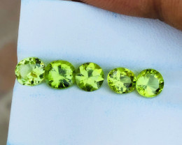 4.90 Ct Natural Greenish Transparent Peridot Gemstones Parcels