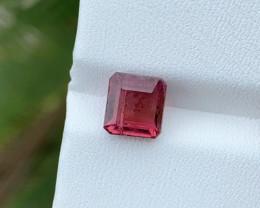 2.35 Ct Natural Reddish Transparent Tourmaline Ring Size Gemstone