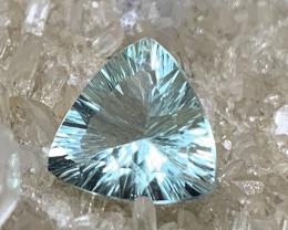 ⭐5.56ct Mint Fluorite Concave Trillion Cut No Reserve