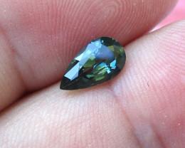1.30cts Natural Australian Green Sapphire Pear Shape