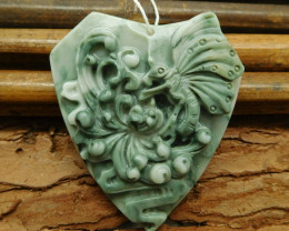 Agate carved agate butterfly pendant (G1053)