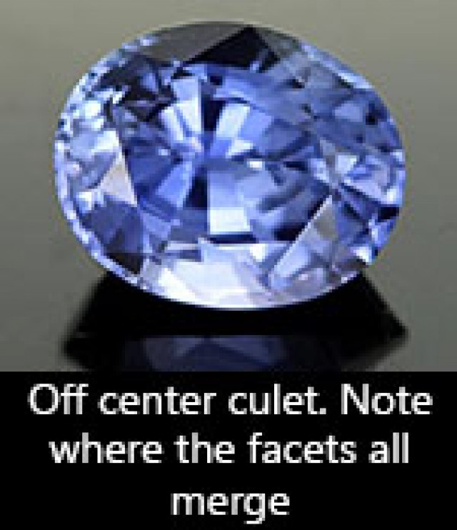 offset culet in a sapphire from sri lanka