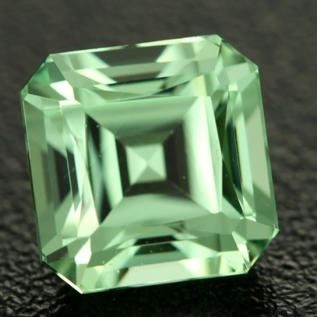 Mint green grossular garnet