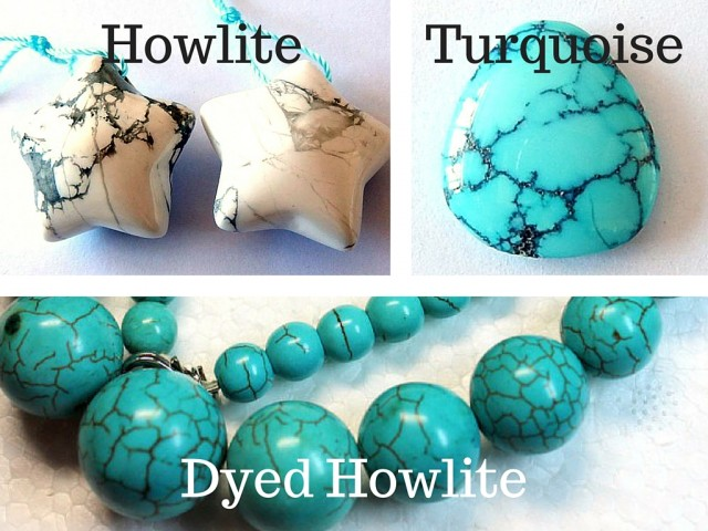 how to tell the difference between turquoise and dyed howlite