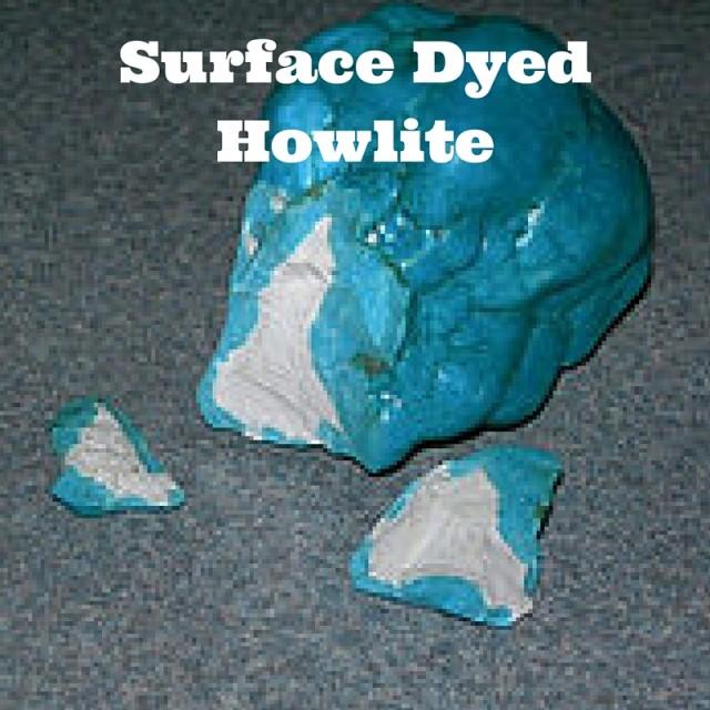 Surface Dyed Howlite Turquoise Imitation