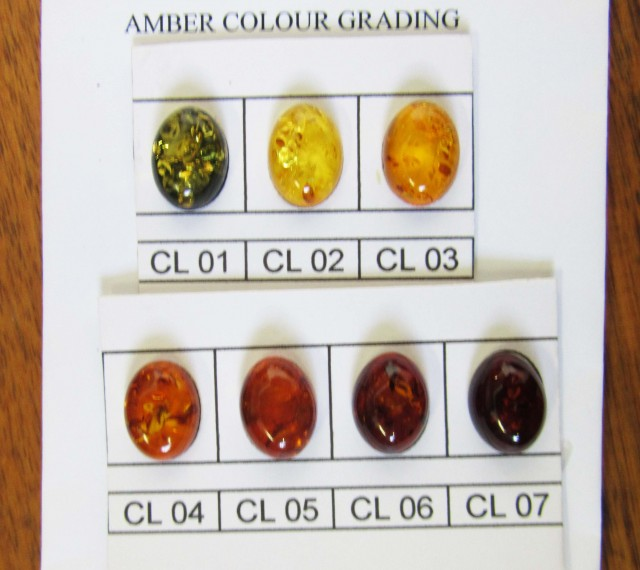 Amber information - Amber color grading chart