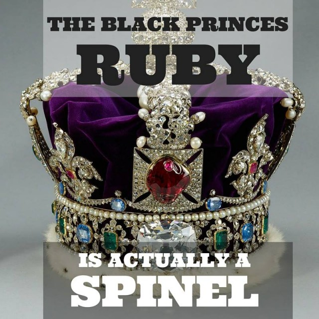black princes ruby is actually a Spinel