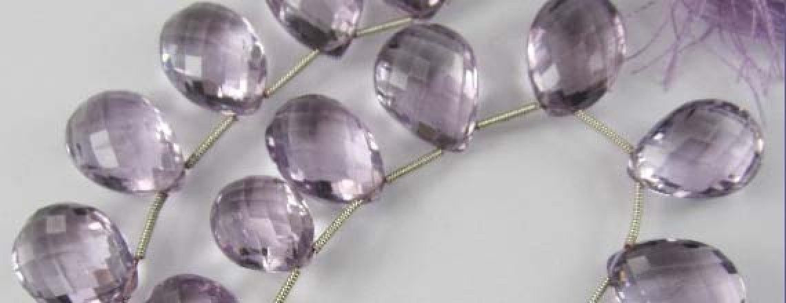 Briolette cut gemstones
