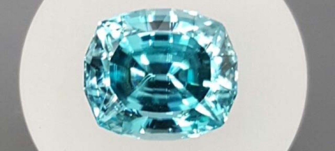 Blue Zircon from Cambodia