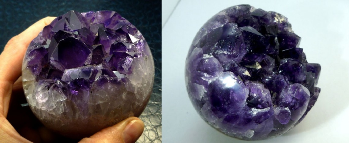 Our Beautiful Collection of Amethyst Geodes Spheres Crystals and Pond