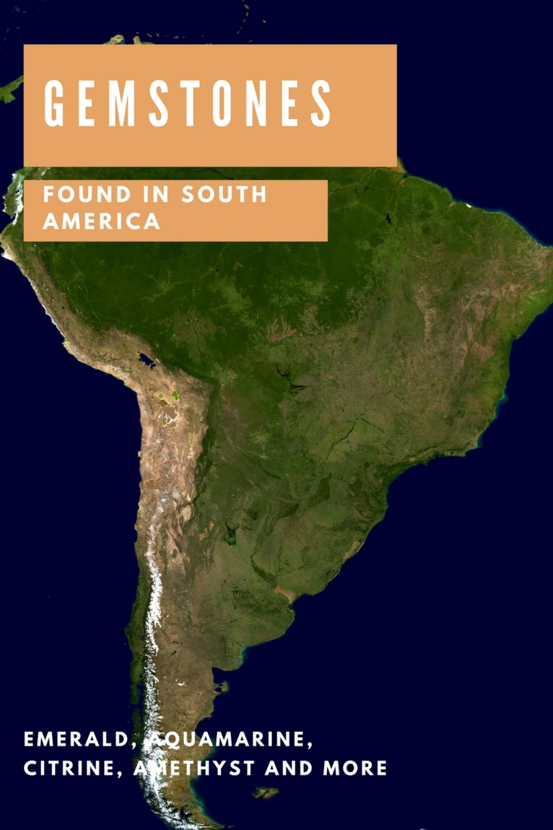 What Gemstones Can Be Found In South America [List]   Gem ... on media map, ne map, vi map, mind map, eclipse map, metal map, elvis map,
