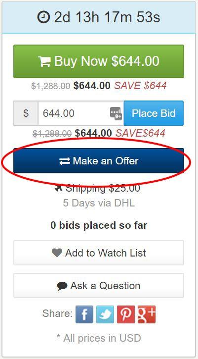 Black Friday 2017 Sale - Make An offer