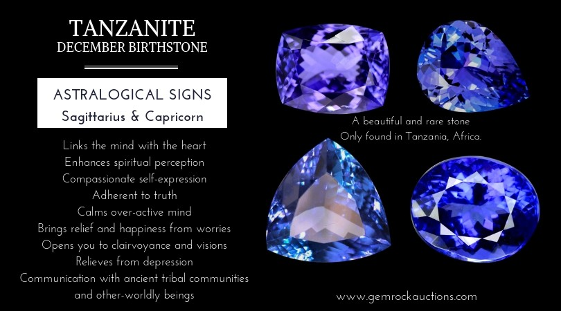 Tanzanite gemstone and metaphysical properties