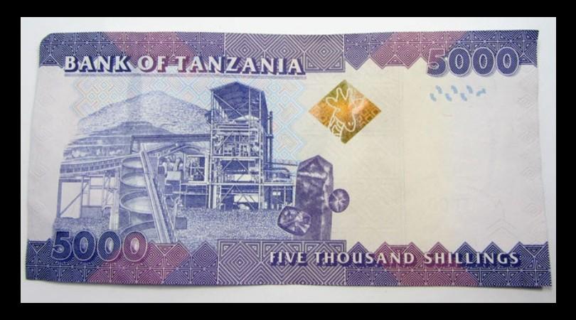 Tanzanian 5000 shilling note