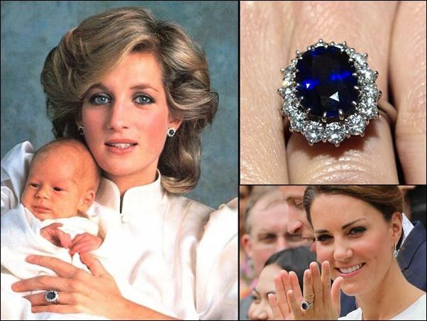 Kate middleton and princess dianas sapphire ring