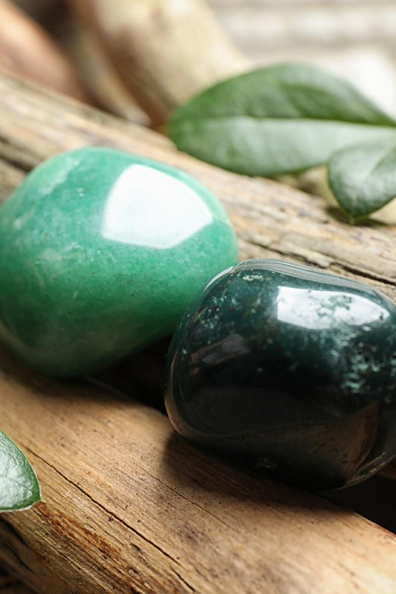 polished aventurine stones