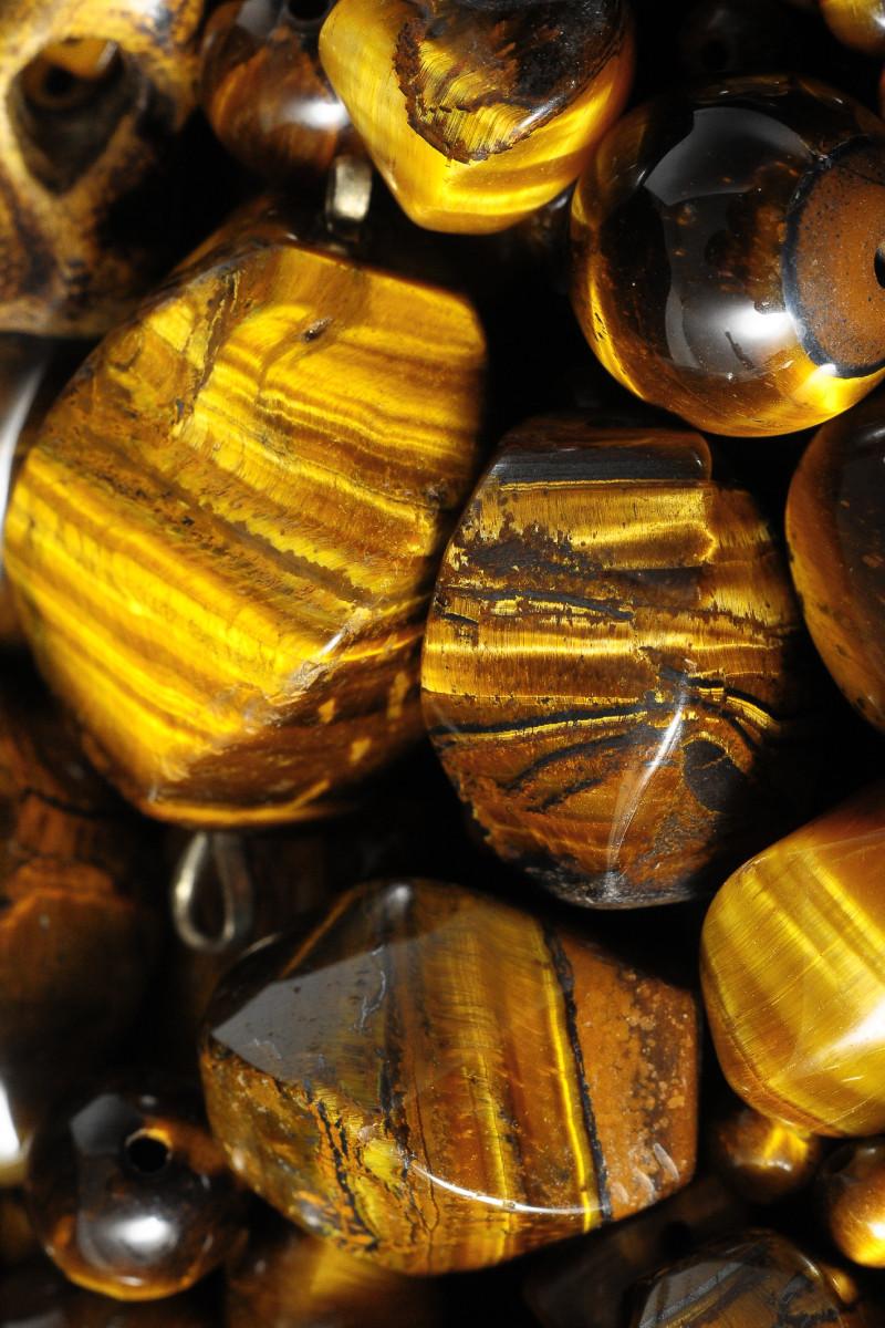 Tiger's eye gemstones