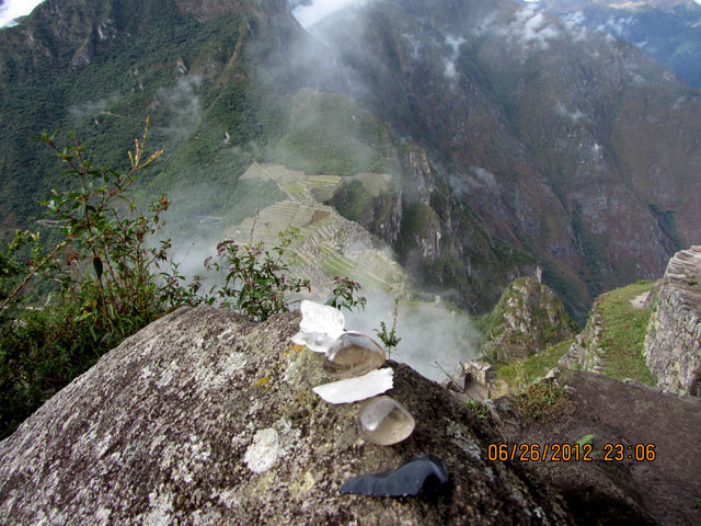 Crystals On Death Hike Mountain Beside Machu Picchu
