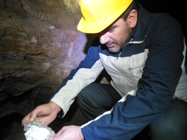 Mining For Mineral specimens In  Ancient  Greek Mine at Attica