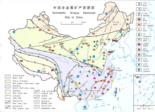 Gemstones and Minerals mined in China