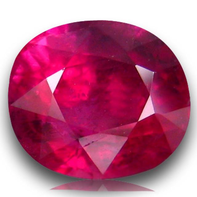 Glass filled ruby gemstone