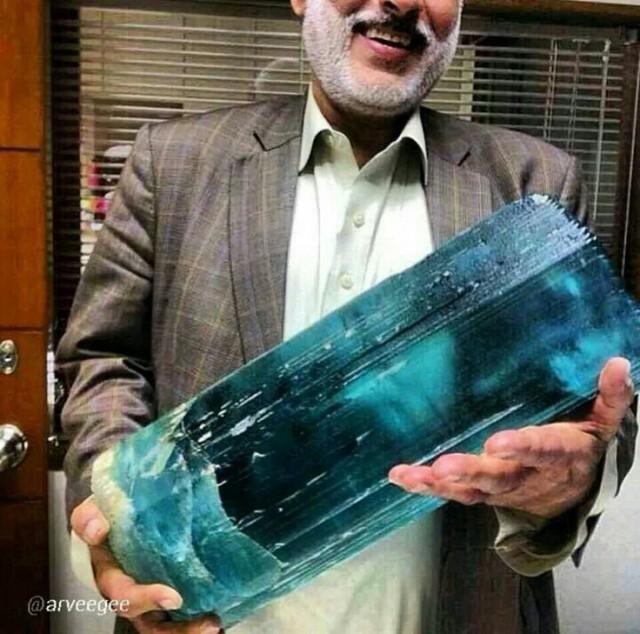 Largest Aquamarine Crystal
