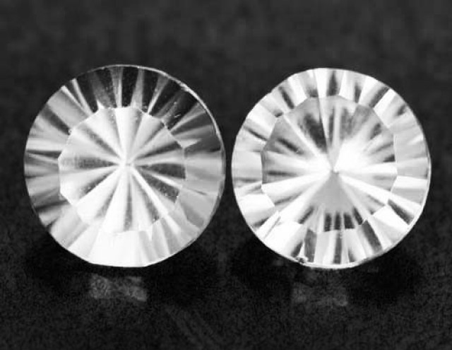 Colorless Topaz pair