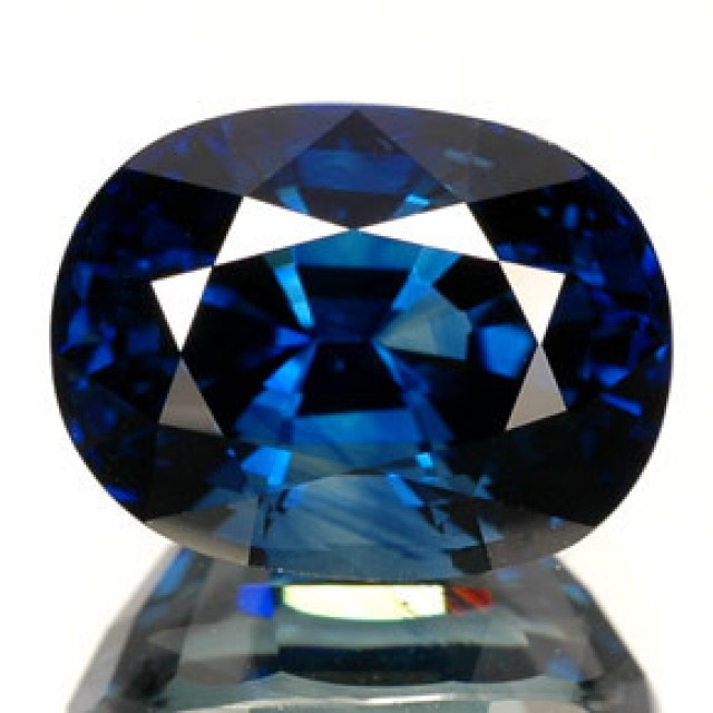 octagon sapphire sri shape of gemstones au blue no carat evidence lankan lanka gemstone heat treating
