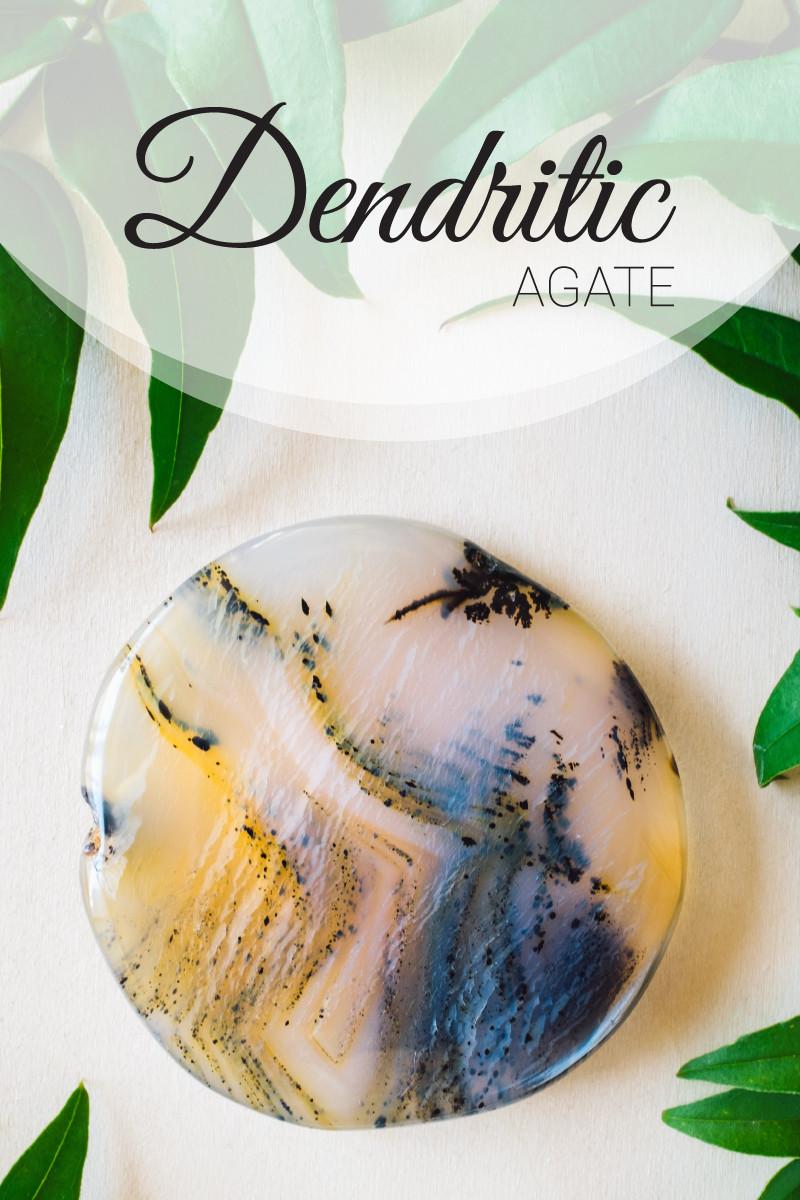 dendritic agate gemstone