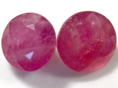 FREE SHIP PAIR NATURAL RUBY  4.35  CARATS RO1008