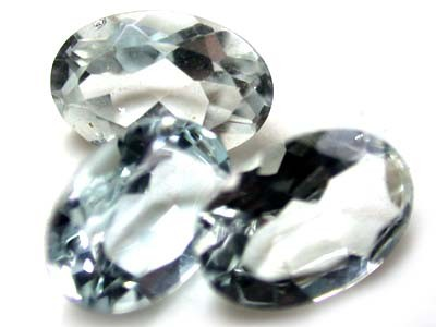 6x4 mm  CLEAR TOURMALINE OVAL CUT 3pcs 1.20 CARATS ROI 1563