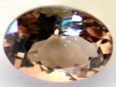 NATURAL CLEAR TOURMALINE OVAL CUT  0.75 CARATS RO 1580