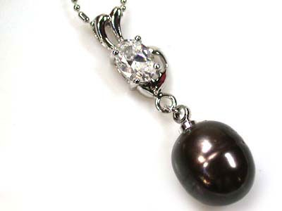 FREE SHIPPING,LARGE FRESH WATER PEARL PENDANT 23.5CTS AAA531