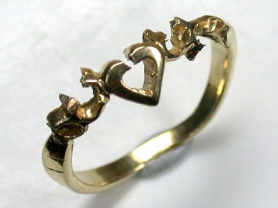 18 K GOLD RING FINDING POLISHED RING SIZE 7   L282