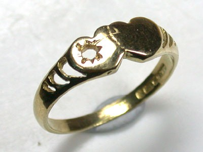 18 K GOLD RING FINDING POLISHED RING SIZE 5.5   L283