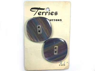 CARD OLD BUTTONS PRE 1968 DECIMAL ERA T36