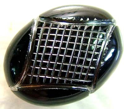 14.75 CTS  BLACK ONYX  SILVER ENGRAVED  LG-1010