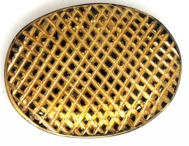 BLACK ONYX 24K GOLD ENGRAVED 25 CTS LG-653