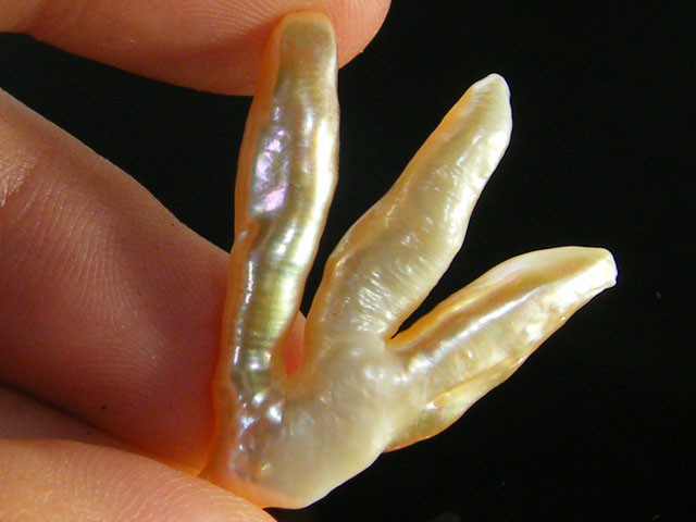HIGH LUSTRE QUALITY PEACE SYMBOL KEISHI PEARL 19 CTS SG1348