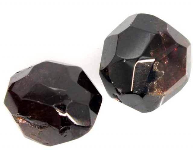 GARNET NATURAL FACETED BEAD DRILLED 2 PCS 85 CTS  NP-870