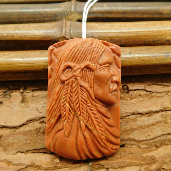 Gemstone carved american native pendant jewelry (G1067)