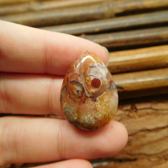 Tiny crazy rosetta agate cabochon (G1069)