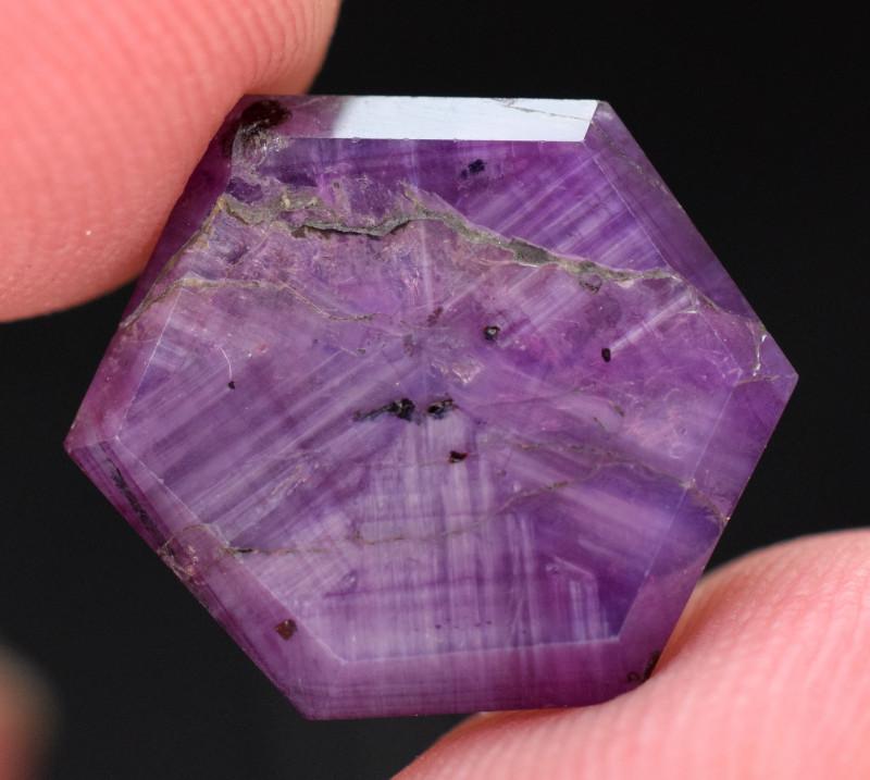 13.40 carats Trapiche Pink Kashmir Sapphire