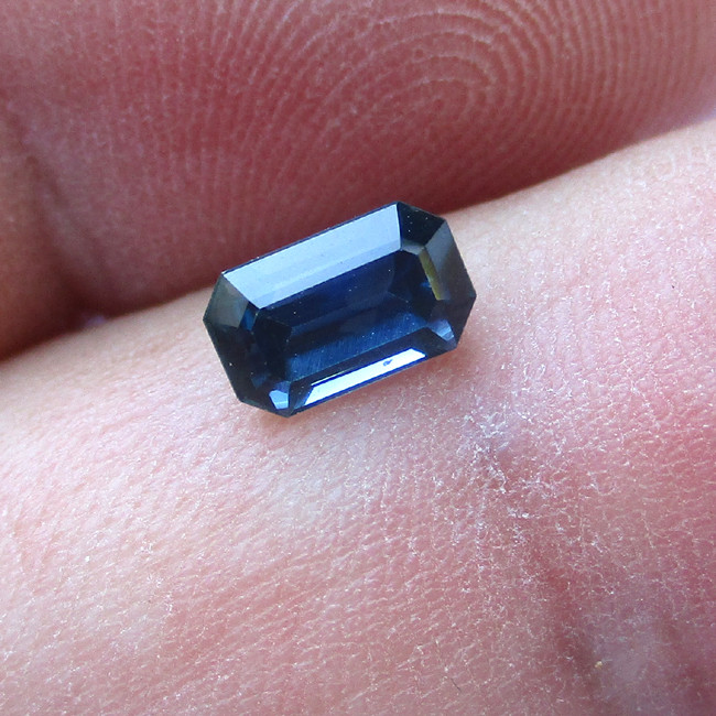 1.08cts Natural Australian Blue Sapphire Emerald Cut