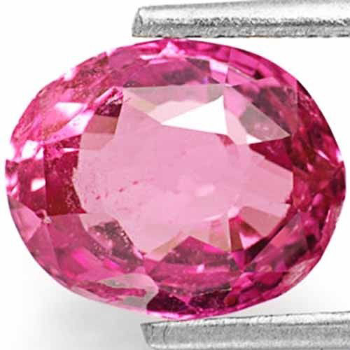 AIGS Certified Sri Lanka Pink Sapphire, 3.10 Carats, Orangish Pink Oval