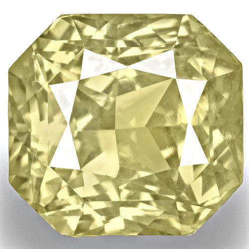 GIA Certified Sri Lanka Yellow Sapphire, 8.84 Carats, Light Yellow