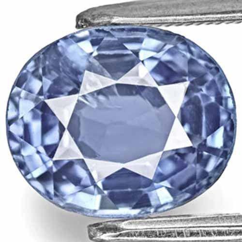 IGI Certified Burma Blue Sapphire, 3.83 Carats, Vivid Blue Oval