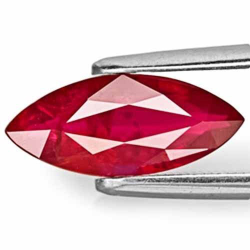 AIGS Certified Mozambique Ruby, 2.18 Carats, Pigeon Blood Red Marquise