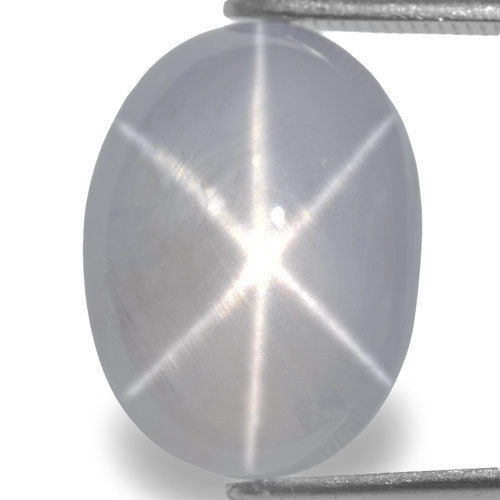 Sri Lanka Fancy Star Sapphire, 14.70 Carats, Pale Bluish White Oval