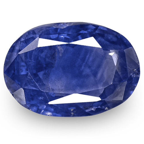 GRS Certified Sri Lanka Blue Sapphire, 3.88 Carats, Deep Cornflower Blue